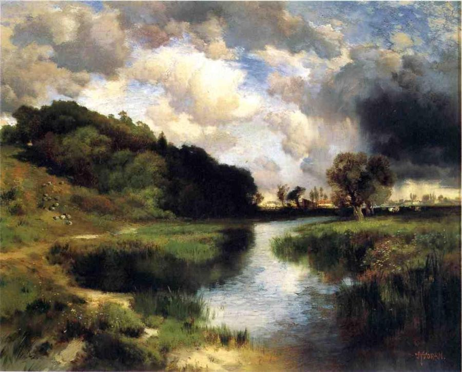 Thomas Moran Cloudy Day at Amagansett