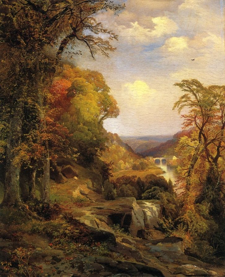 Thomas Moran On the Wissahickon near Chestnut Hill