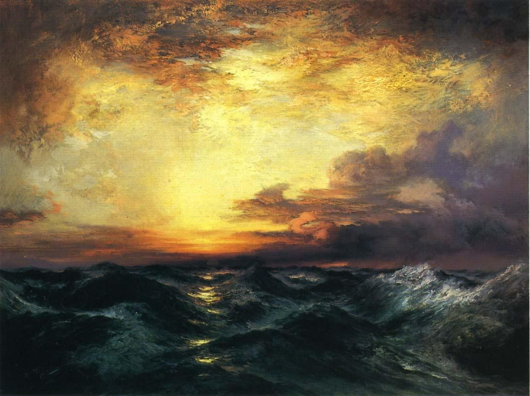 Thomas Moran Pacific Sunset Painting | Best Paintings For Sale