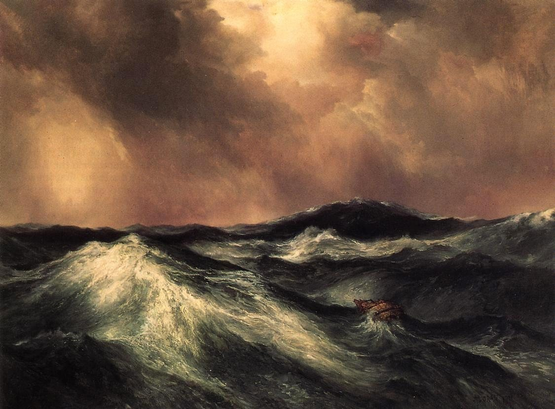 Thomas Moran The Angry Sea