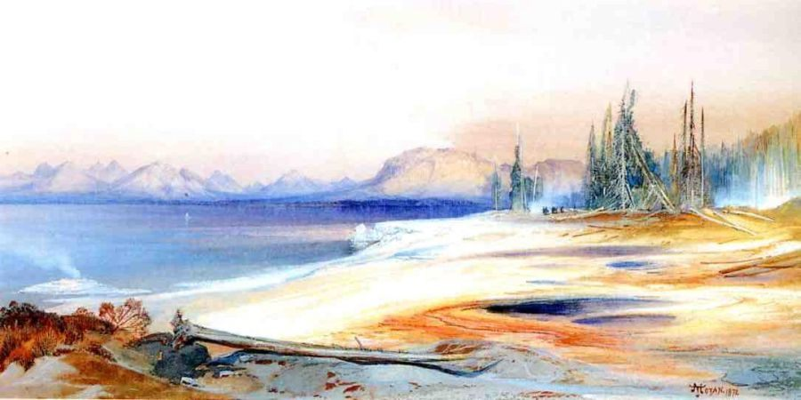 Thomas Moran The Yellowstone Lake with Hot Springs