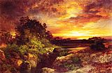 Thomas Moran An Arizona Sunset Near the Grand Canyon painting
