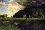 Thomas Moran Approaching Storm painting