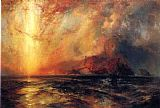 Thomas Moran Fiercely the Red Sun Descending, Burned His Way Across the Heavens painting