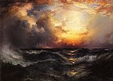 Thomas Moran Sunset in Mid-Ocean painting