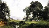 Thomas Moran The Picnic painting