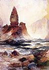 Thomas Moran Tower Falls and Sulphur Rock,Yellowstone painting