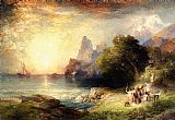 Thomas Moran Ulysses and the Sirens painting
