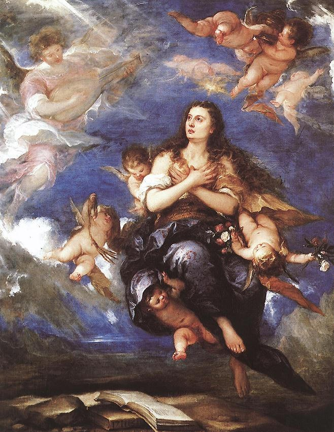 Unknown Artist Assumption of Mary Magdalene By Antolinez