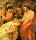Unknown Artist Christ and Mary Magdalene by Rubens painting