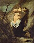 Unknown Artist Mary Magdalene in the Desert Honore Daumier painting