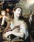 Unknown Artist Penitent Magdalene By Joseph Heintz painting