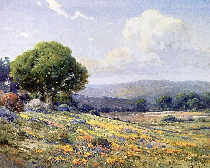 Angel espoy angel espoy california wildflowers painting for Angel paintings for sale
