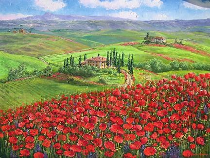 Unknown Artist TUSCANY POPPIES