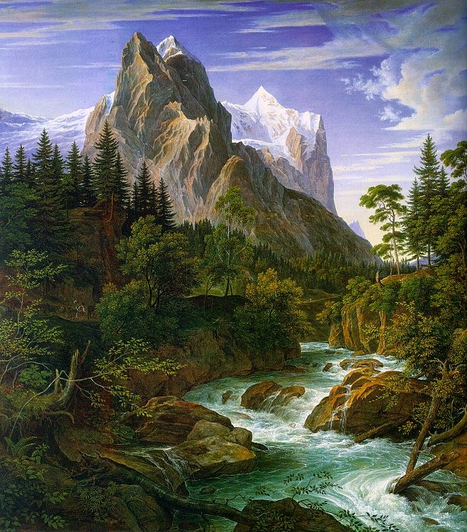 Unknown Artist The Wetterhorn with the Reichenbachtal