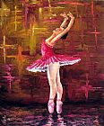 Unknown Artist Ballerina painting