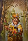 Unknown Artist Dress Monkey 12 painting