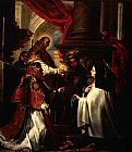 Unknown Artist Holy Communion of St Teresa of Avila by Claudio Coello painting