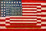 Unknown Artist Jasper Johns three flags painting