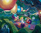 the boating party lunch Paintings - MAD HATTER'S TEA PARTY