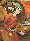 Unknown Artist Persian woman pouring wine painting