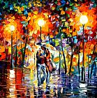 palette knife paintings - Romantical Love III by Unknown Artist