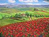 Unknown Artist TUSCANY POPPIES painting