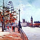 Unknown Artist Thames View painting