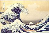 Unknown Artist The Great Wave at Kanagawa by Katsushika Hokusai painting