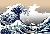 Oriental paintings - The Great Wave off Kanagawa by Katsushika Hokusai by Unknown Artist