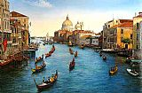 Unknown Artist Venice Grand Canal painting