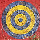 Unknown Artist jasper johns Target painting