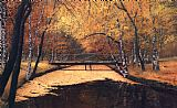 Unknown Artist landscape in autumn painting