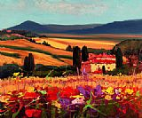 Unknown Artist tuscan landscape painting