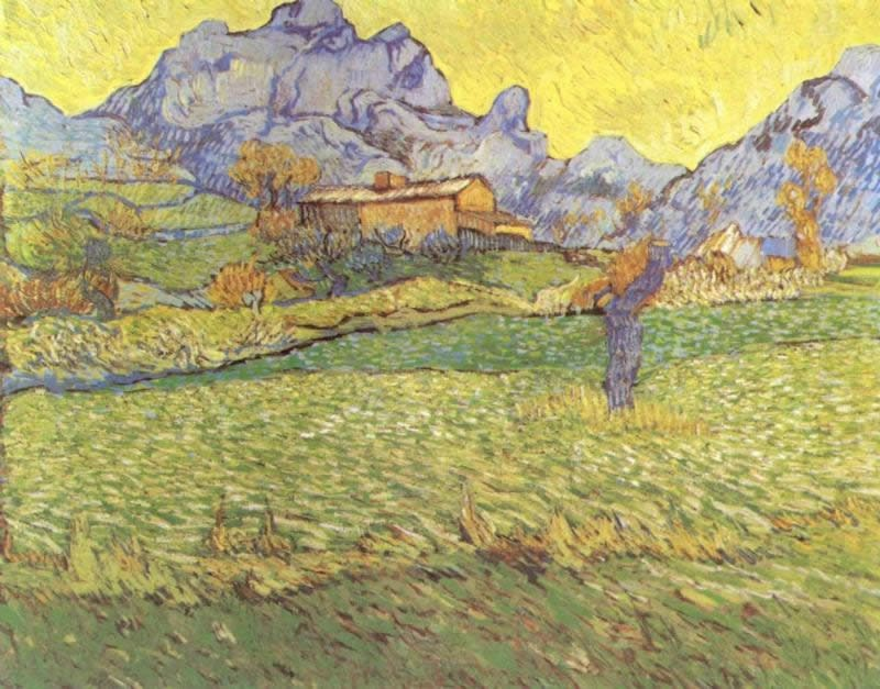 Vincent van Gogh A Meadow in the Mountains
