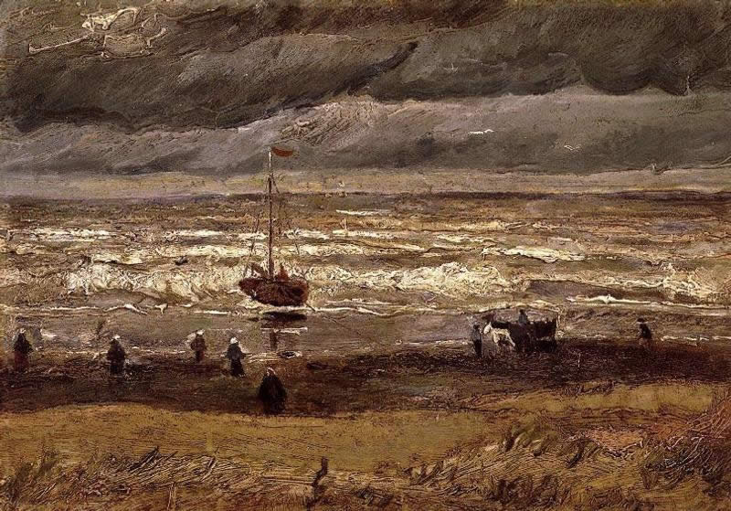 Vincent van Gogh Beach at Scheveningen in Stormy Weather