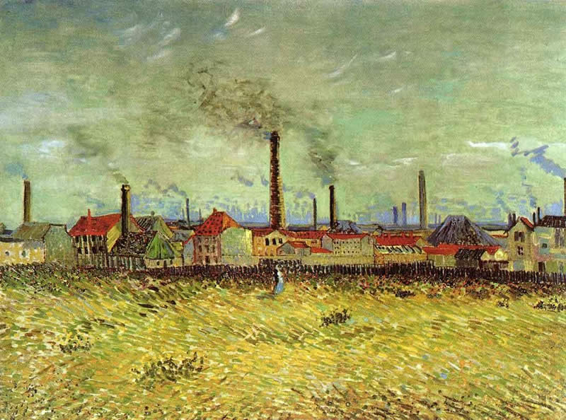 Vincent van Gogh Factories at Asnieres Seen from the Quay de Clichy