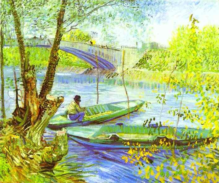 Vincent van Gogh Fishing in Spring