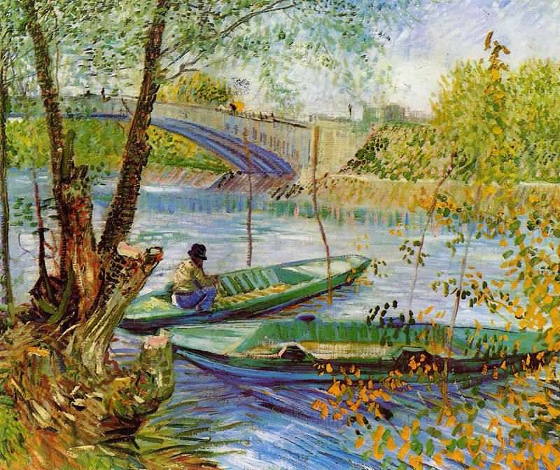 Vincent van Gogh Fishing in the Spring