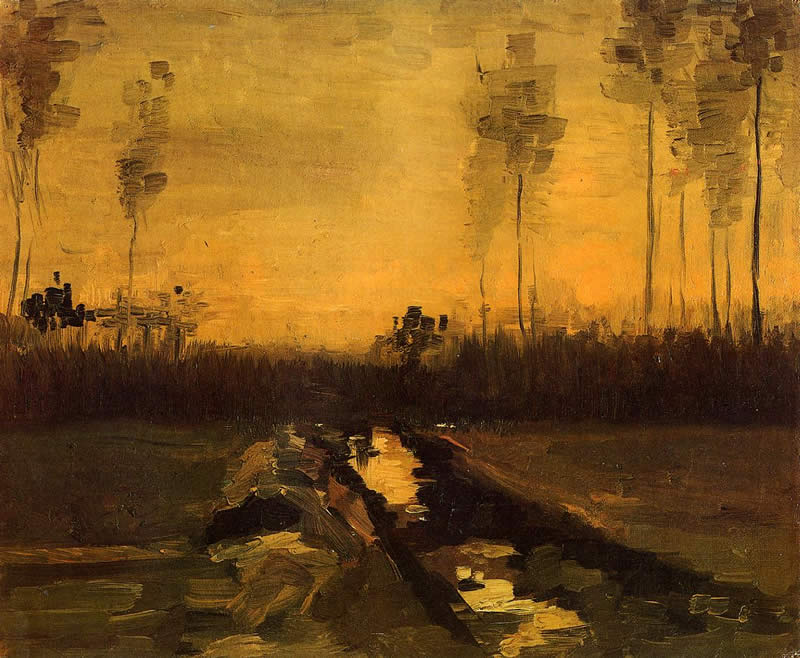 Vincent van Gogh Landscape at Dusk