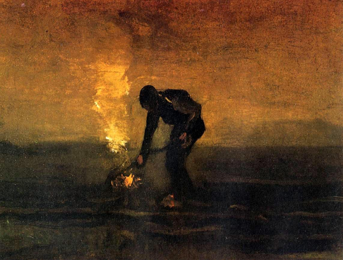 Vincent van Gogh Peasant Burning Weeds
