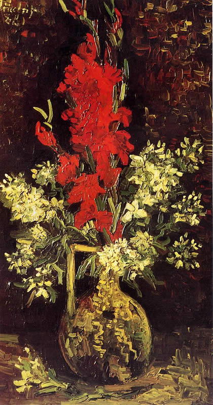 Vincent Van Gogh Vase With Gladioli And Carnations Painting Best
