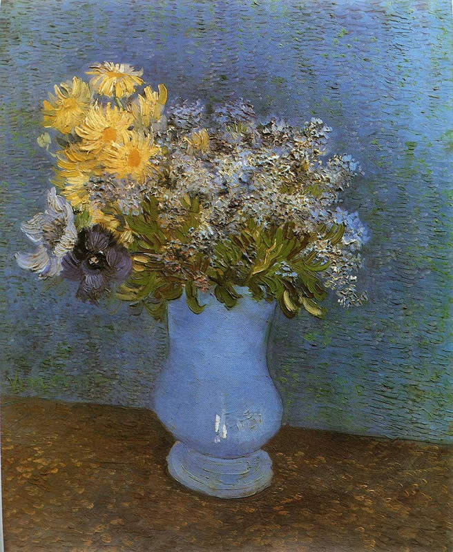 Vincent van Gogh Vase with Lilacs Daisies and Anemomes