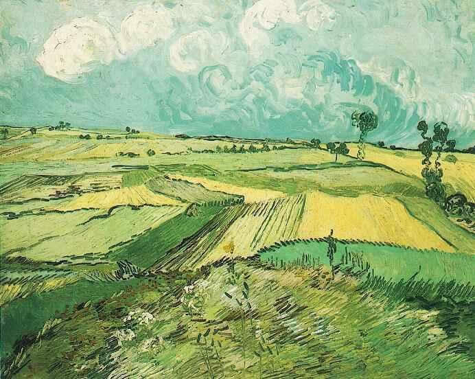 Vincent van Gogh Wheat Fields at Auvers Under Clouded Sky