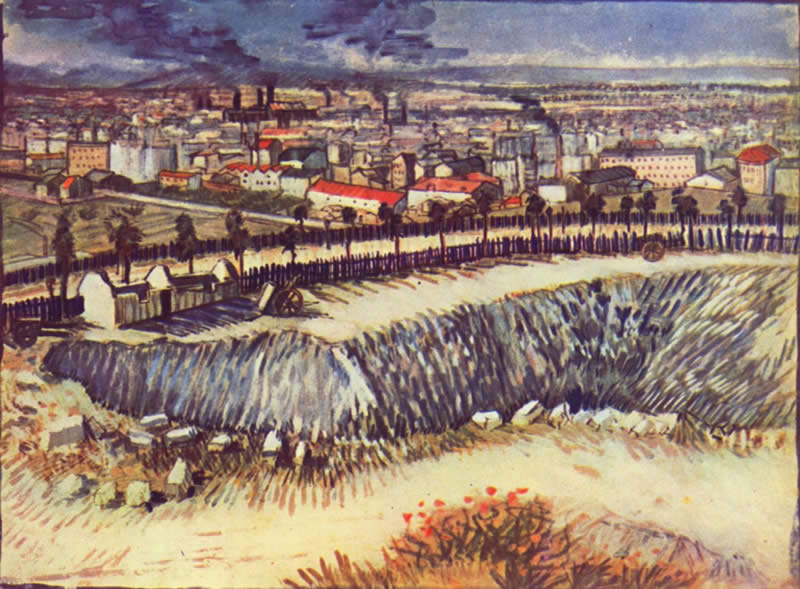Vincent van Gogh view of the city with factorys