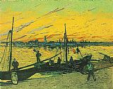 Vincent van Gogh Barges 1888 painting