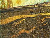 Vincent van Gogh Champ et laboureur 1889 painting