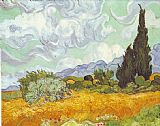 Vincent van Gogh Cornfield with Cypresses painting