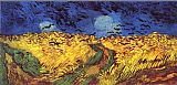 Vincent van Gogh Crows over wheat field painting