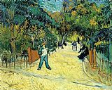 Vincent van Gogh Entrance to the Public Garden in Arles painting